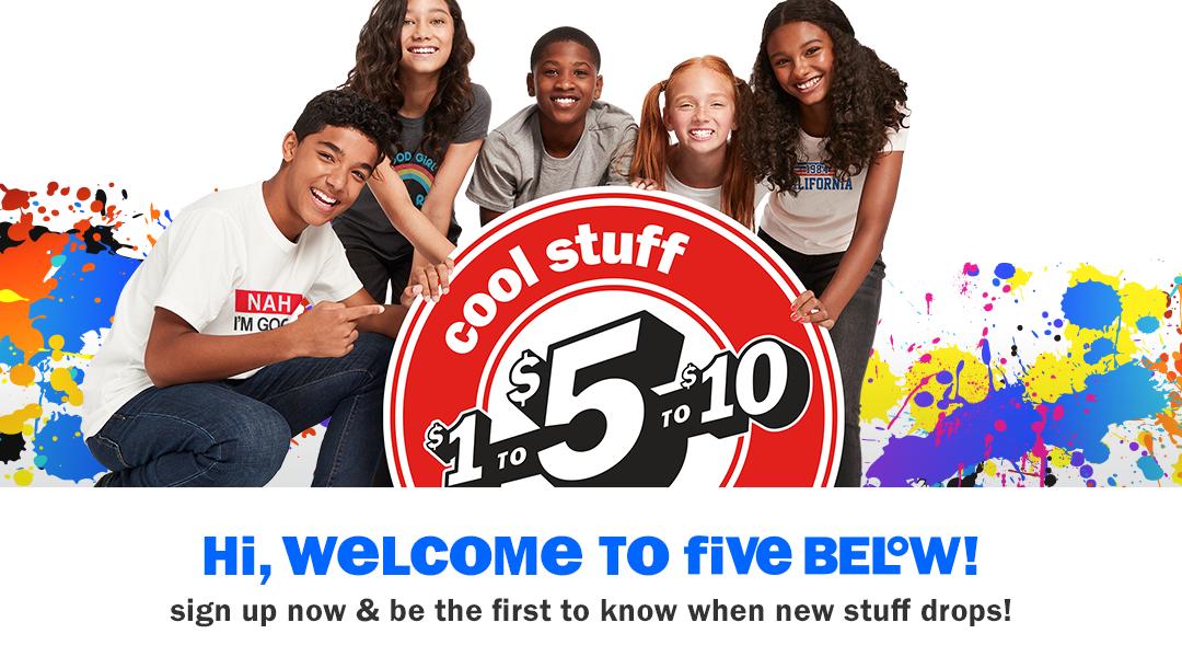 New Now Five Below Let Go Have Fun